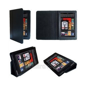 """YMXT10-BK PU Leather Case For for Amazon Kindle Fire 7"""" Tablet With Stand"""
