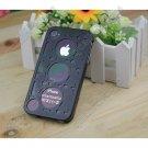 LKWK04 Aluminum Alloy Metal Machine Gear Metal Bumper Case for iPhone 4 4G 4S
