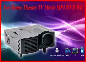 AS-TYYH07 AD Card USB2.0 AV Port LCD HD Video Projector For Home Theater TV Movie MP4 DVD Wii