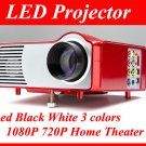 AS-TYYH08-RD LED Projector HD 1080P 720P Home Theater AV/TV/S-VIDEO/VGA/HDMI WII PS3 V01