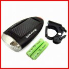 BO-BIKE10 Super Bright LED Solar Energy Charging Cycling Bike Bicycle Front Head Lamp Light