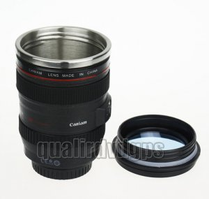 BH-NKBZ06 1:1imitation Canon Coffee Stainless Steel Drinking Cup Mug For Canon 24-105mm