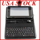 "AD-GCPD22-10C USB 2.0 10""Leather Housing Faceplate Case+Keyboard+USB For APad EPad MID"