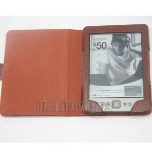 FB-IKDS01-BN For Amazon Kindle 4 4th Generation Leather Pouch Case Cover Brown