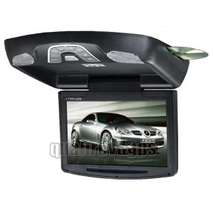 CE22ROF014-BK 11 Inch HD Roof-mounted DVD Player Monitor, Games Support, Black