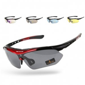 BO-GLAS12 Cycling Wrap Running Outdoor Sports Sunglasses Multi Sport Glasses Exchangeable 5 Lenses