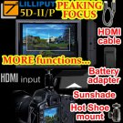 """CE21LED503-WO Lilliput 5D-II/O/P PEAKING Zebra Exposure Filter HDMI IN OUT 7"""" TFT LCD Monitor"""