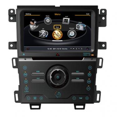 QL-FEG725 Auto Central Multimedia DVD GPS Navigation Stereo Headunit For 2013 Ford Edge