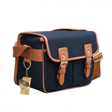 AS-WFPU85-BK Koolertron PU Leather DSLR Camera Bag Messenger Shoulder Bag for Canon Nikon