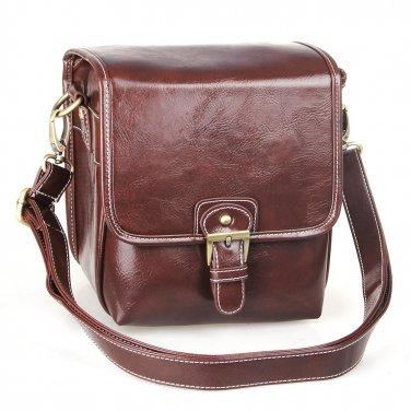 AS-WFPU56-CF Koolertron PU Leather DSLR Camera Bag Messenger Shoulder Bag for Canon Nikon
