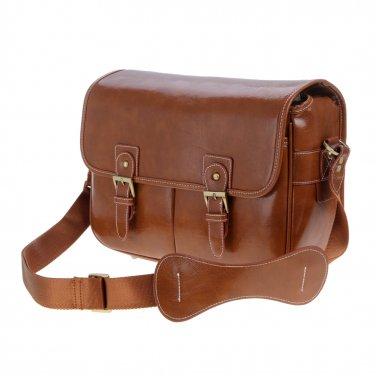 AS-WFFB90-CL Koolertron Waterproof PU Leather Women's Messenger Shouder Bag+Camera Insert