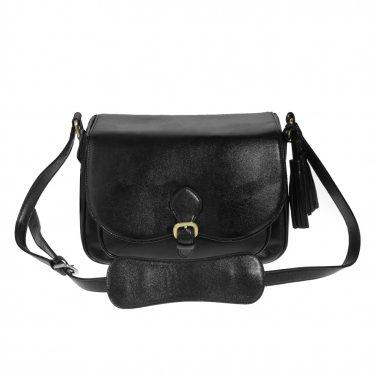 AS-PUBB04-BK Koolertron  PU Leather Small Dslr Camera Bag Shoulder Messenger Bag for Canon Nikon