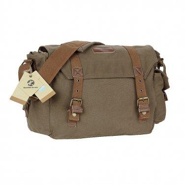 AS-KSFB38-GN  Vintage Canvas DSLR SLR Large Camera Bag Messenger Bag For Nikon D600 Canon