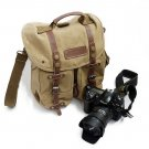 AS-KSFB36-YE Koolertron Waterproof DSLR Canvas Camera Bag Shoulder Messenger Bag for Nikon