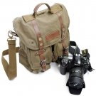 AS-KSFB36-GN Koolertron Waterproof DSLR Canvas Camera Bag Shoulder Messenger Bag for Nikon