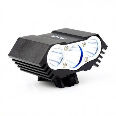 BO-LIFE05-BK Pellor Rechargeable 3600 Lumens 3x CREE XML T6 LED Cycling Bicycle Light Lamp HeadLight