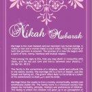 Nikah Mubarak (Brochure and Card)