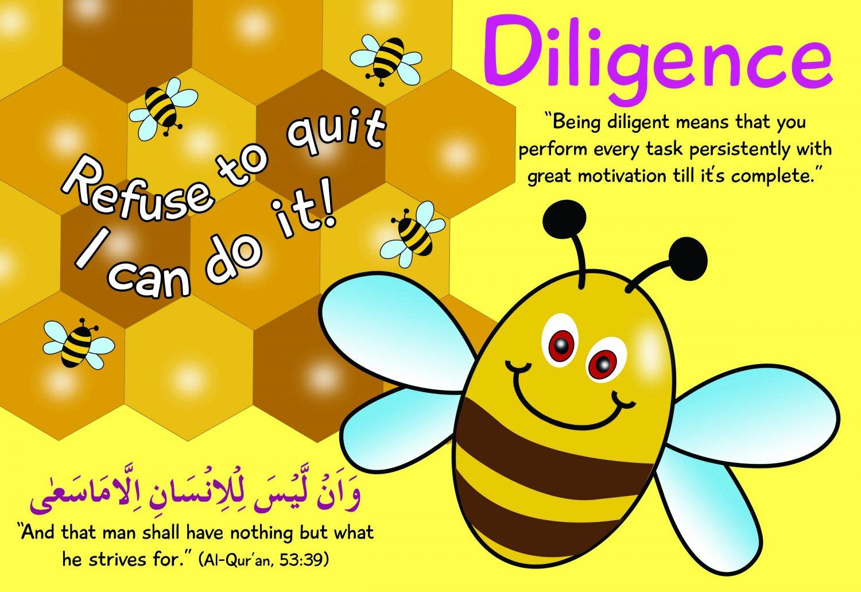 Bee diligent Poster