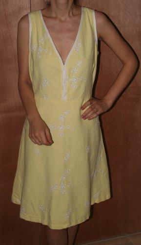 Persaman New York Cotton Dress Yellow Emboidery 12
