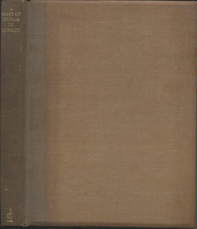A Diary of Thomas de Quincey 1803