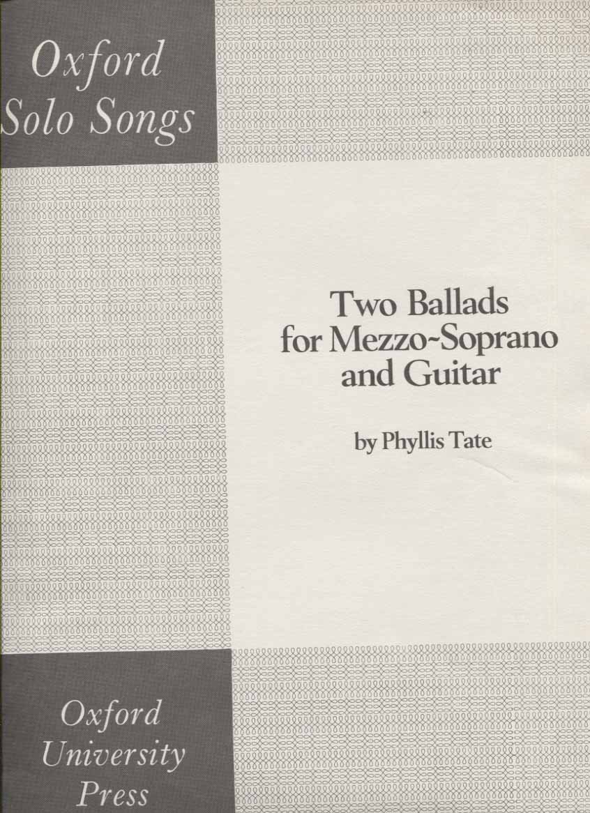 Two Ballads for Mezzo-Soprano and Guitar