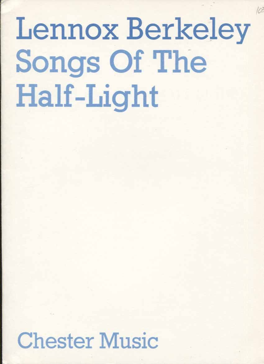 Songs of the Half-Light for High Voice and Guitar
