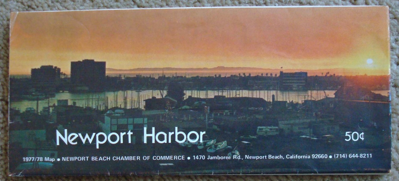 Newport Harbor 1977/78 Map