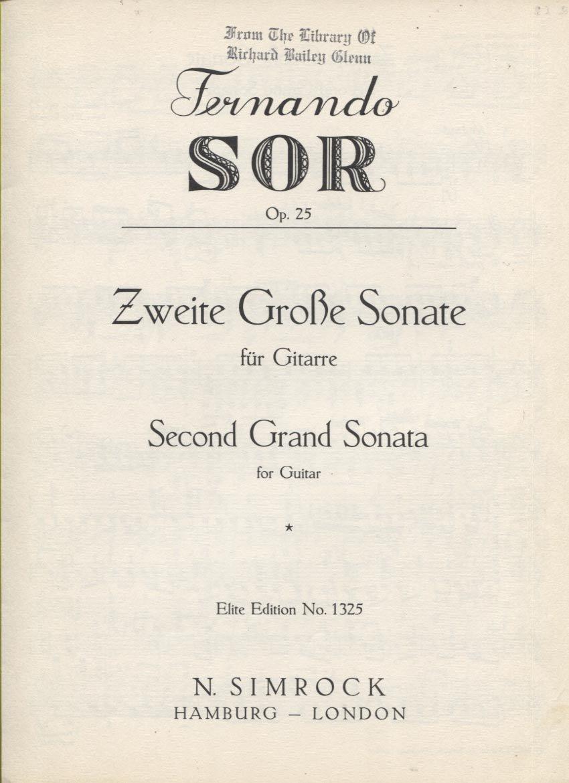 Second Grand Sonata Op. 25
