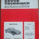 Etudes & Documentation de la Revue Technique Automobile Matra M530