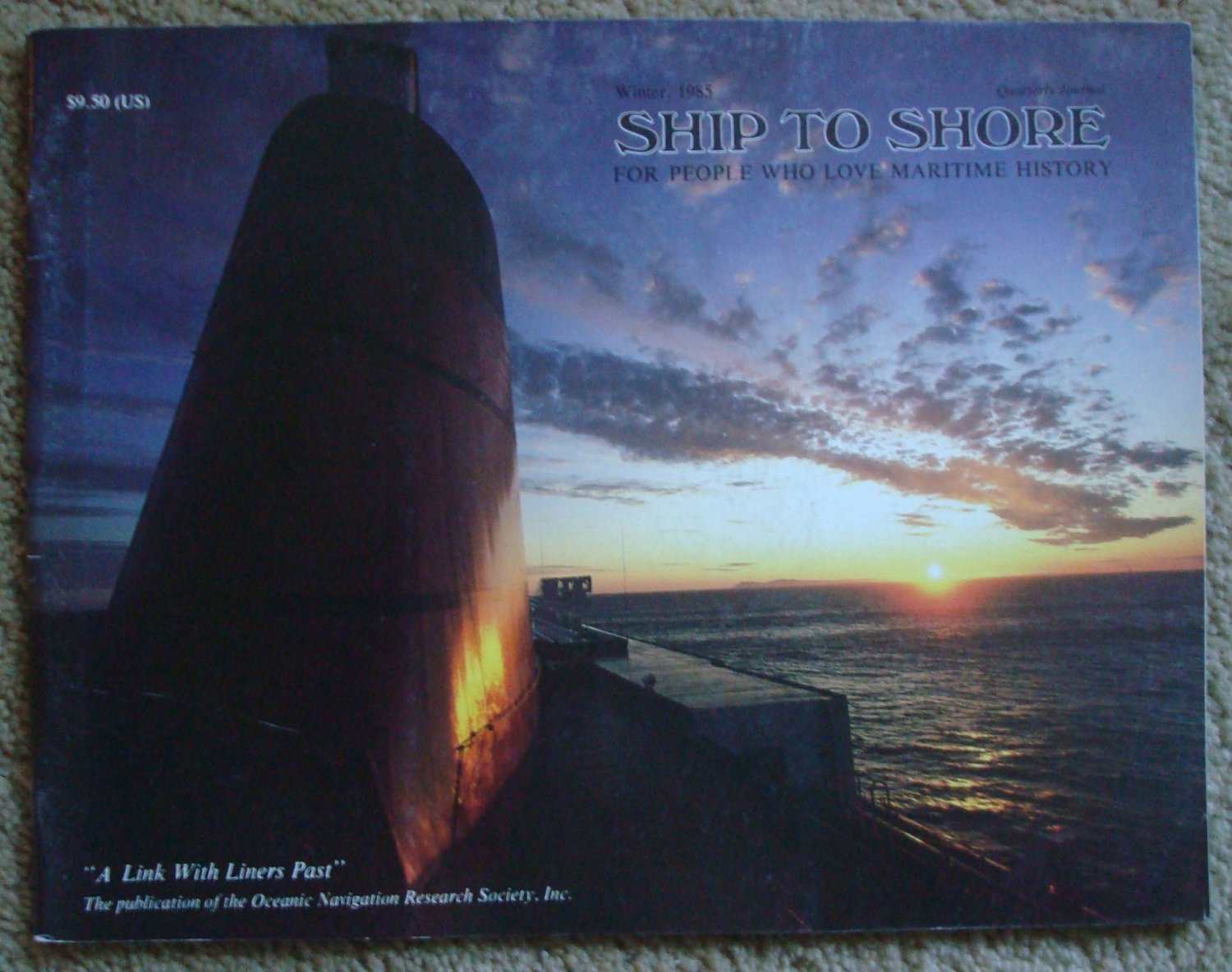 Ship to Shore:  For People Who Love Maritime History, Winter  1985