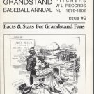 Grandstand Baseball Annual Issue #2: Pitchers W-L Records NL 1876-1902