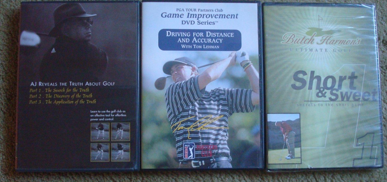 Three Instructional Golf DVDs