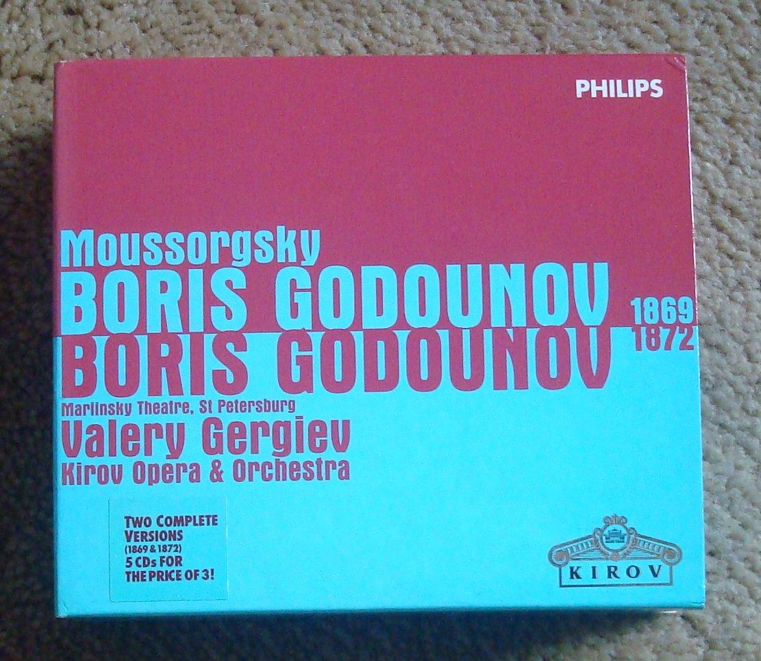 Moussorgsky Boris Godounov Opera 5 CDs