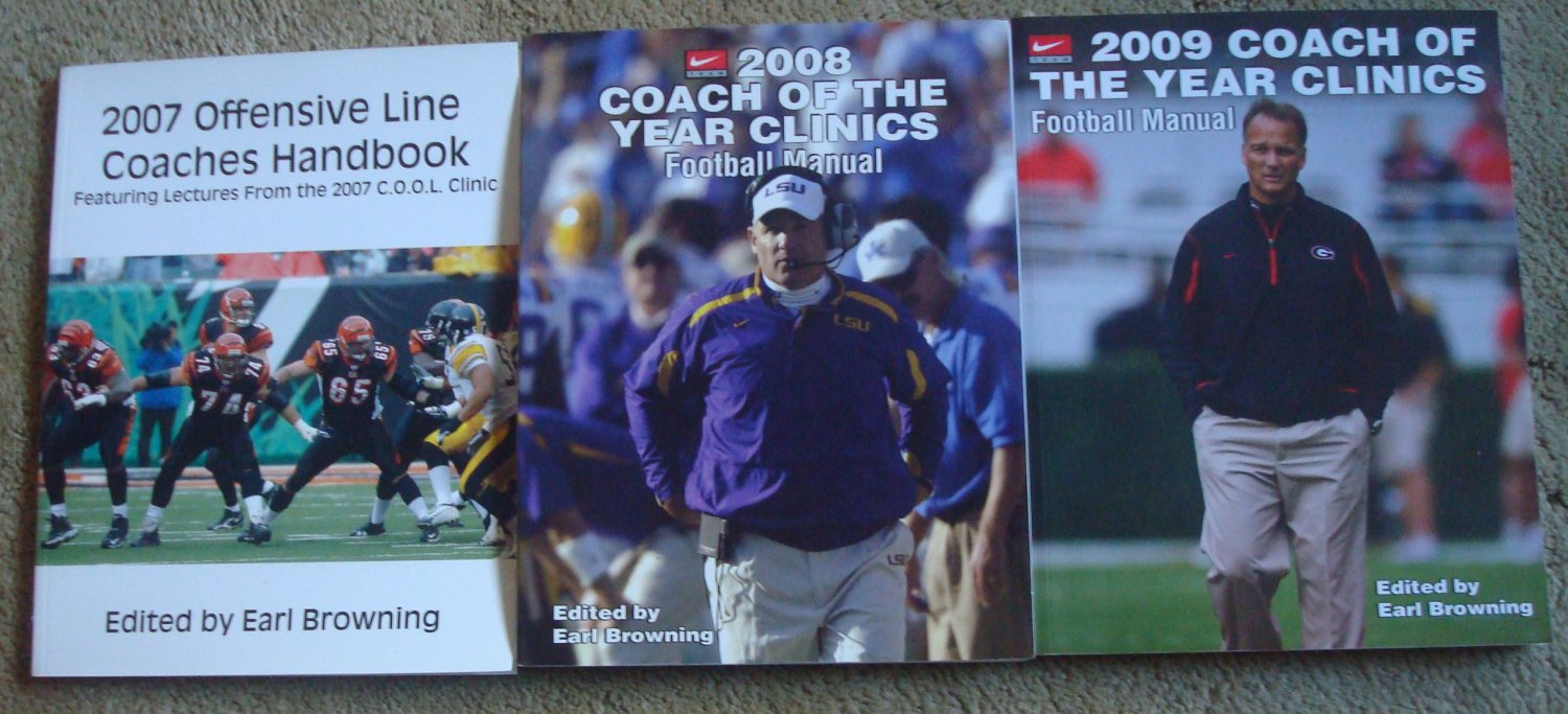 Football Coaches Clinic Manuals - 3 Books