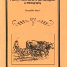 Tennessee Family Histories and Genealogies: A Bibliography