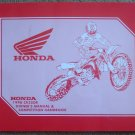 Honda 1998 CR250R Owner's Manual and Competition Handbook