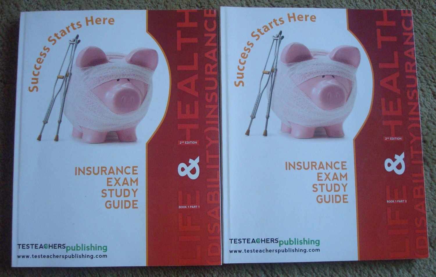 Life & Health (Disability Insurance) Exam Study Guide - 2nd Edition Two Books