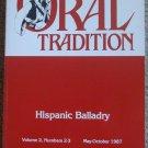 Oral Tradition: Hispanic Balladry