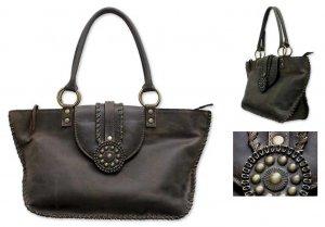 Weathered Leather SouthWestern Handbag