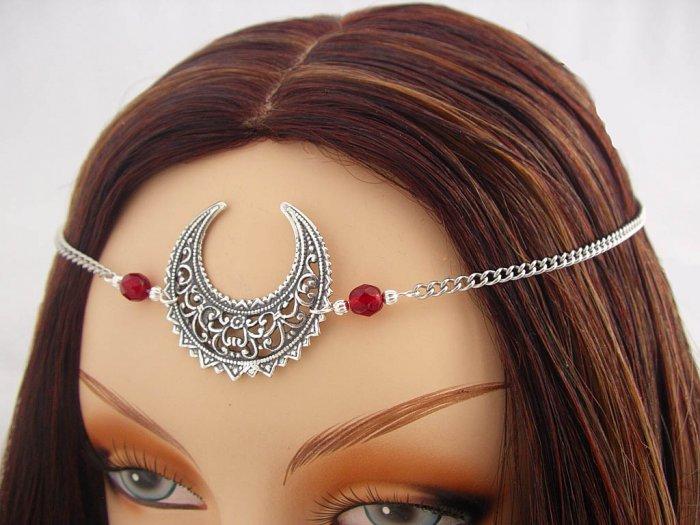 CUSTOM color Moon Goddess CIRCLET diadem priestess wiccan pagan wicca