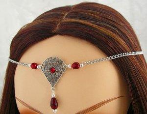 CUSTOM color Renaissance Wedding SCA CIRCLET head piece tiara crown diadem