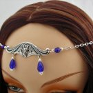CUSTOM color Gothic BAT vampire LARP CIRCLET head piece