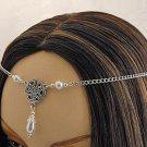 PEARL CELTIC TRIQUETRA medieval wedding tiara CIRCLET