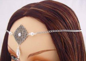 ITEM 3284 Pearl Elvish Medieval CIRCLET crown
