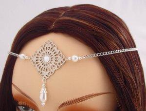 ITEM 3290 Pearl Elvish Medieval CIRCLET crown