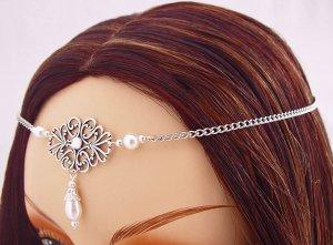 ITEM 3286 Pearl Renaissance Elvish LARP Medieval CIRCLET crown