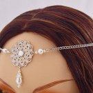 ITEM 3287 Pearl Renaissance Elven SCA LARP Medieval CIRCLET crown