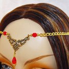 RED LARP medieval renaissance ELViN CIRCLET crown tiara #1354