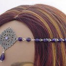 Elven PURPLE Renaissance Medieval CIRCLET crown tiara #3044
