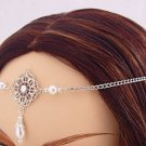 Pearl Renaissance Elvish bridal Medieval CIRCLET crown